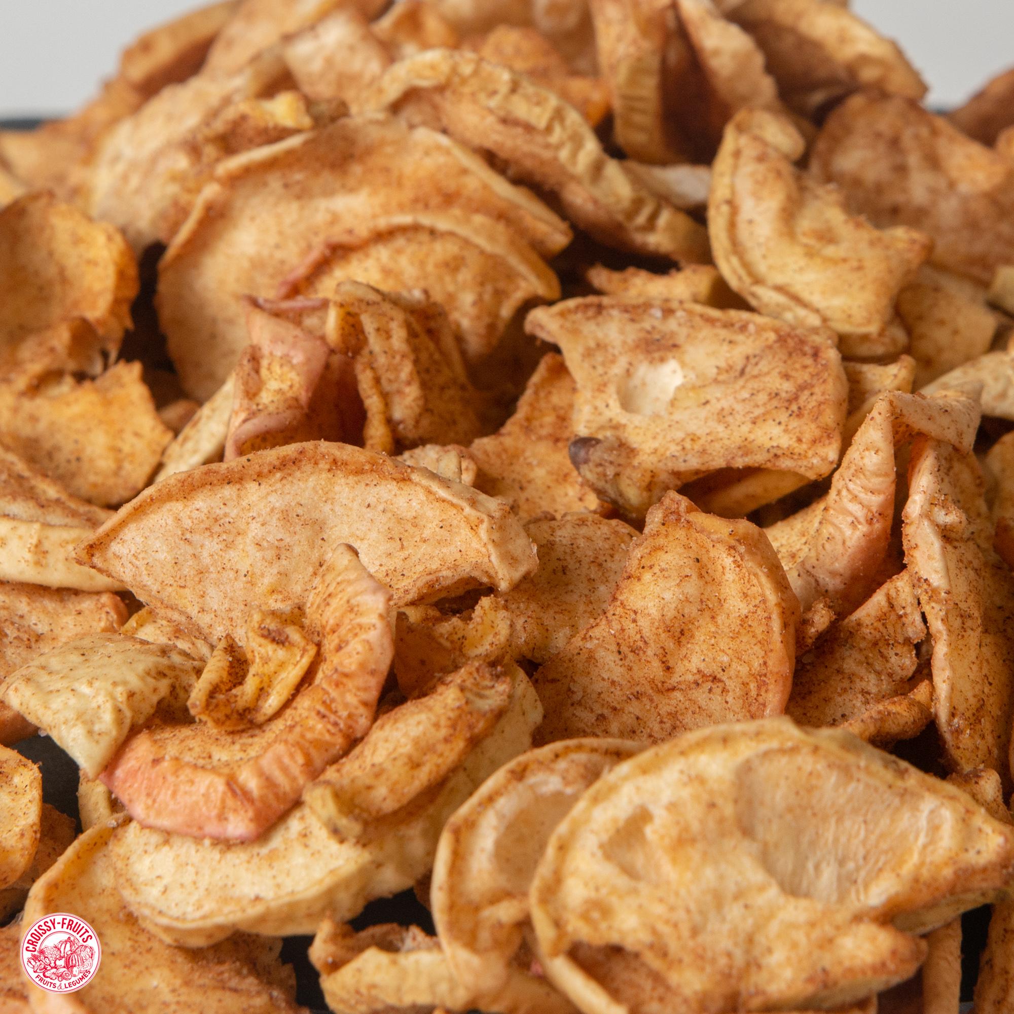 Pomme chips à la cannelle